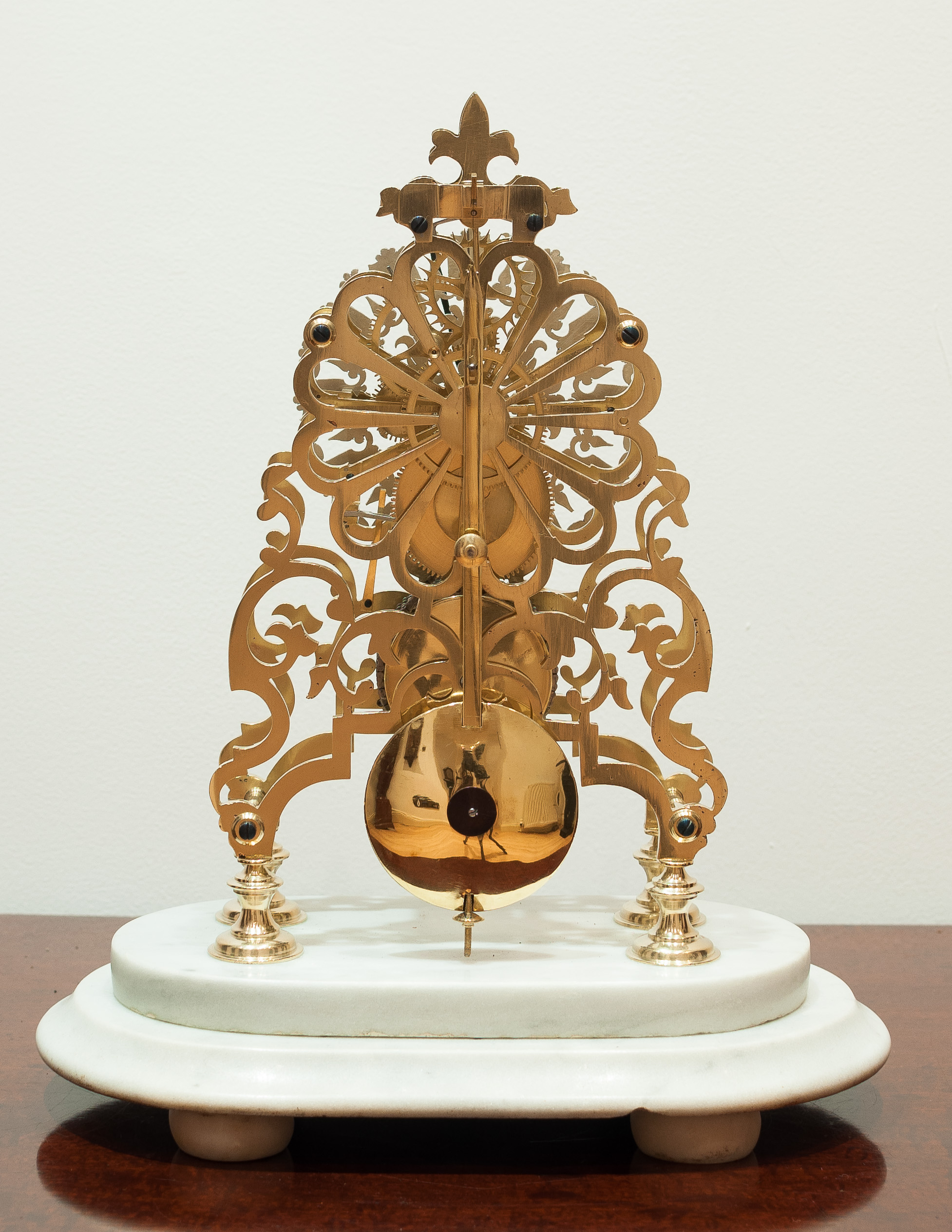 English Fusee Skeleton Clock