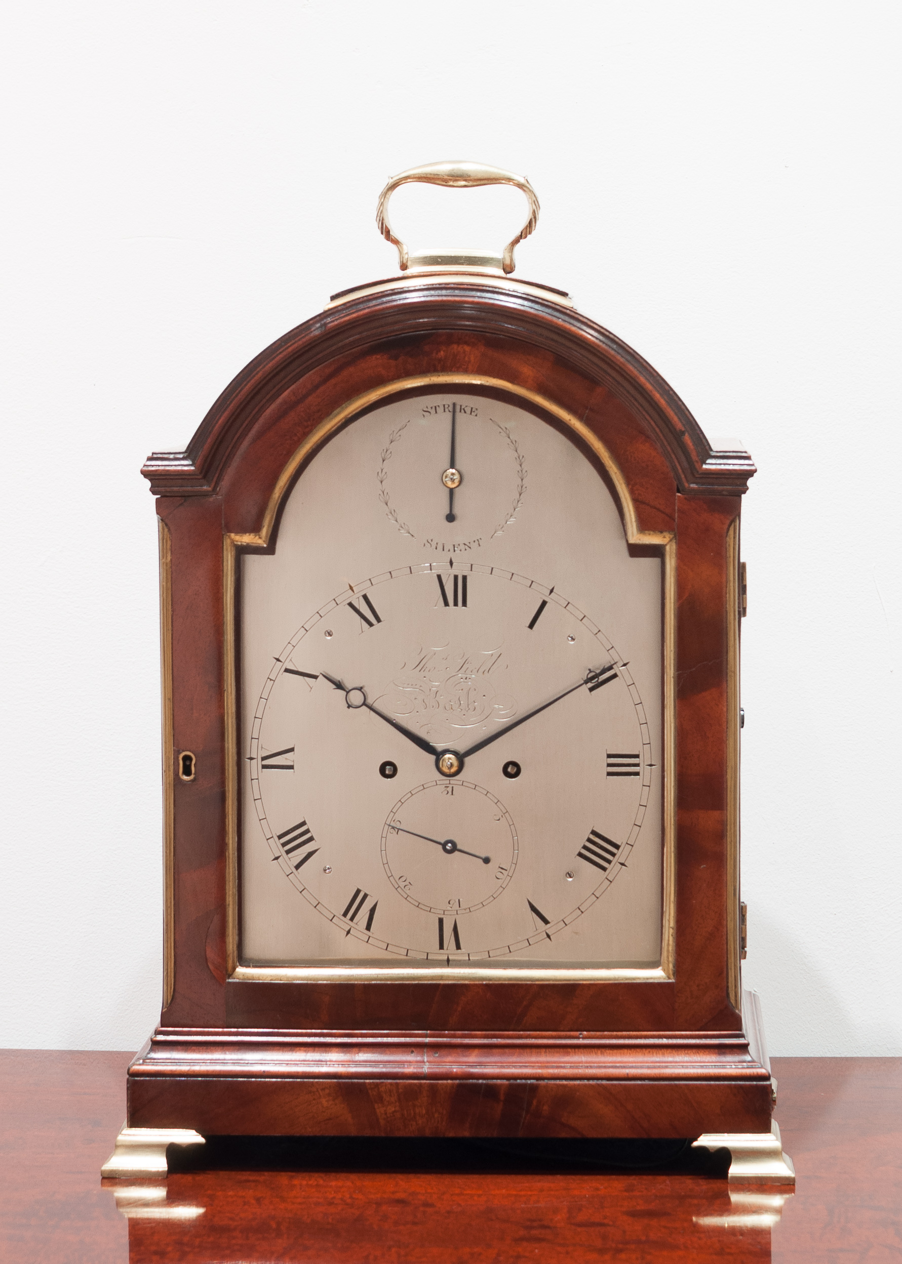 Mahogany bracket clock, Thomas Field of Bath