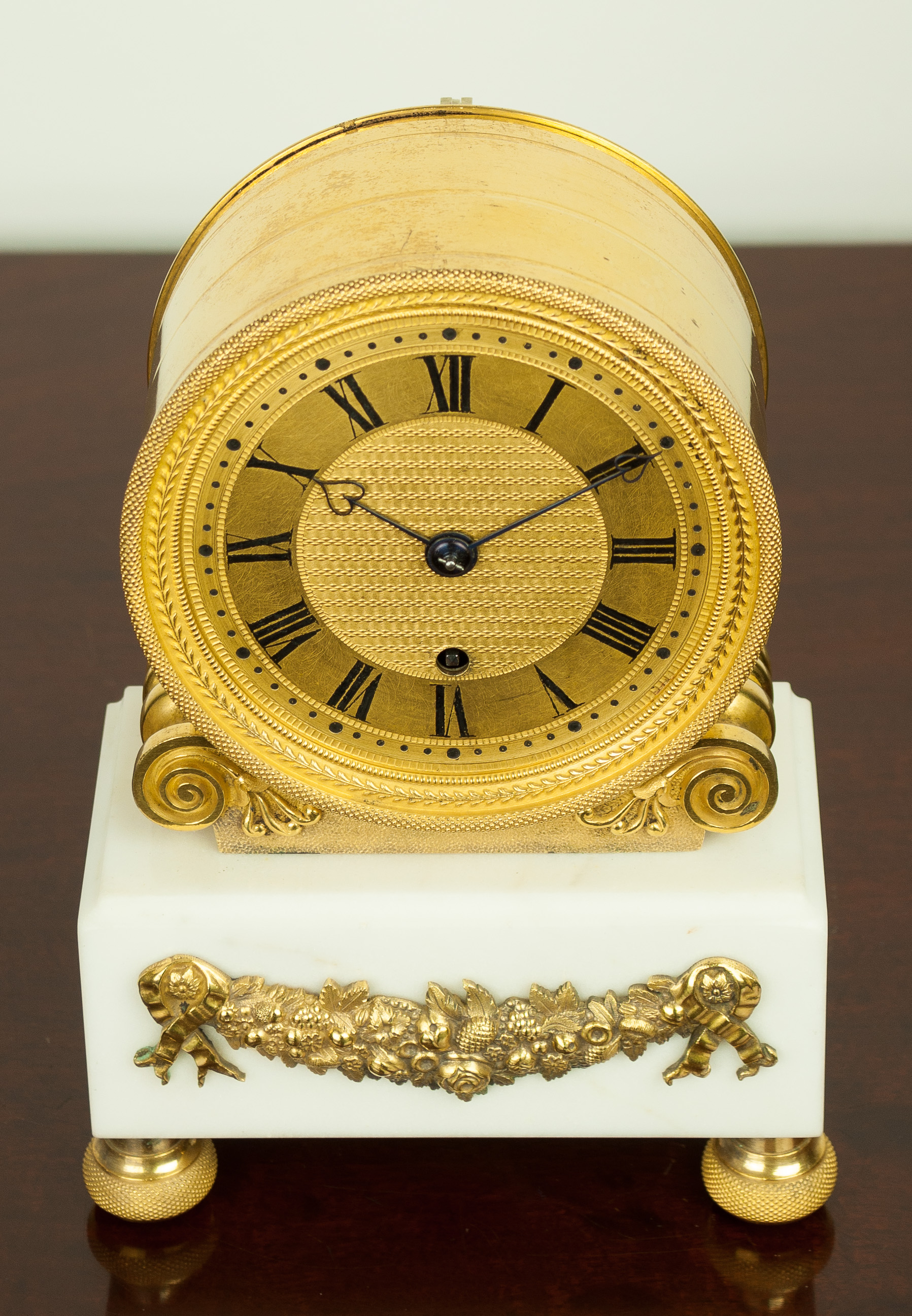 English Fusee Mantel Clock